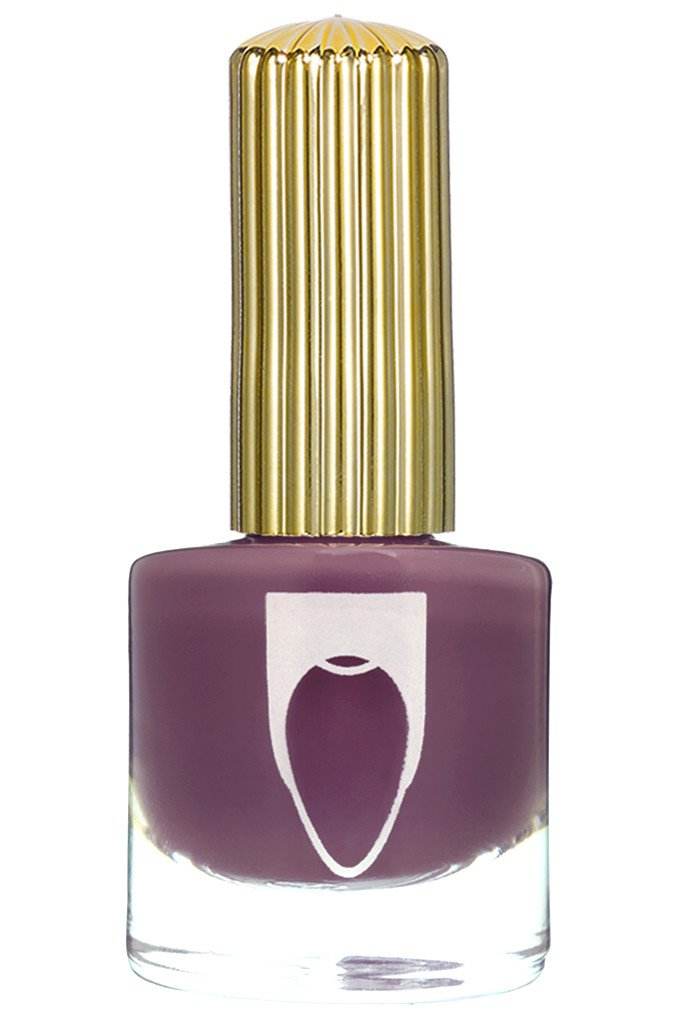 Muted violet creme color Floss Gloss nail polish in Mauve Wives