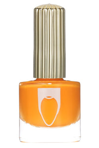 Bright orange color Floss Gloss nail polish in Neon Nacho