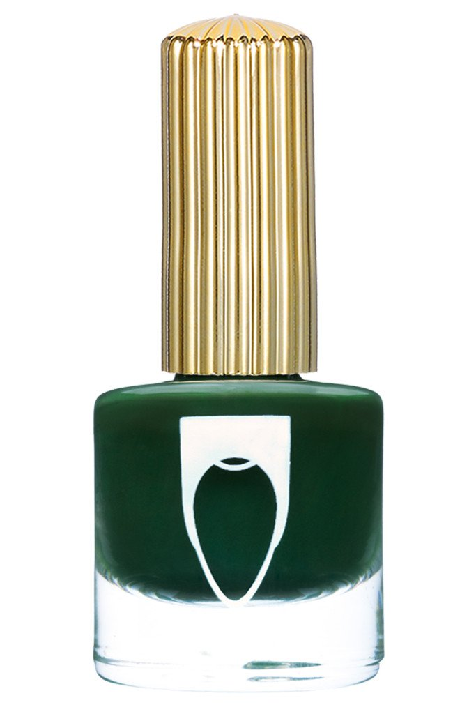 Deep Green color Floss Gloss nail polish in Night Palm
