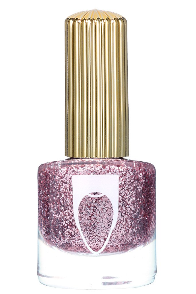 Muted blush glitter color Floss Gloss nail polish in The Pink Nugget