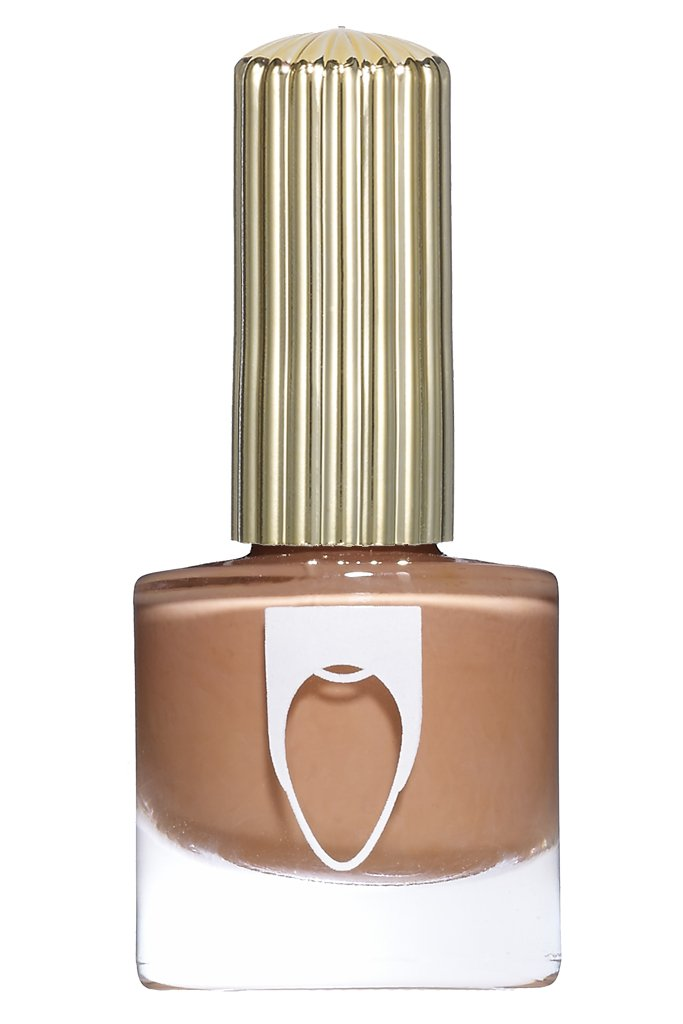 Pinto bean brown color Floss Gloss nail polish in Tanlines