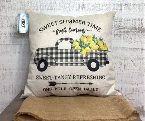 Summer Time Farmhouse Pillow