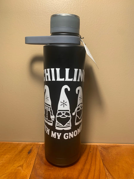 "Williams Sonoma ""Chilling with my gnomies"" Water Bottle"