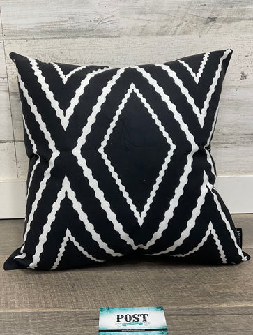 Black Patterned Pillow