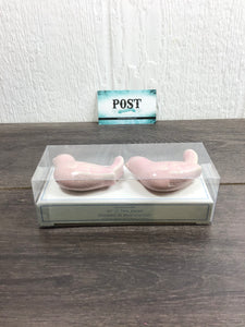 Pink Pottery Barn Bird Knobs