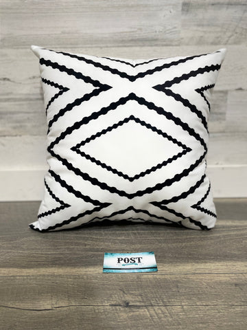 White Patterned Pillow