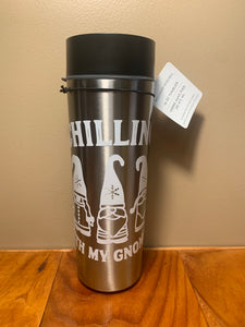 "Williams Sonoma ""Chilling with my gnomies"" Tumbler for Hot Beverages"