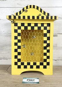 Small Wood Bumble Bee Cabinet