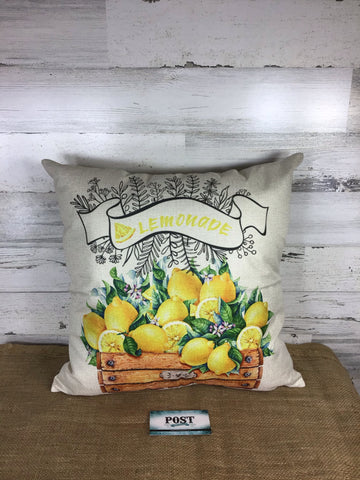 Spring Lemon Pillow