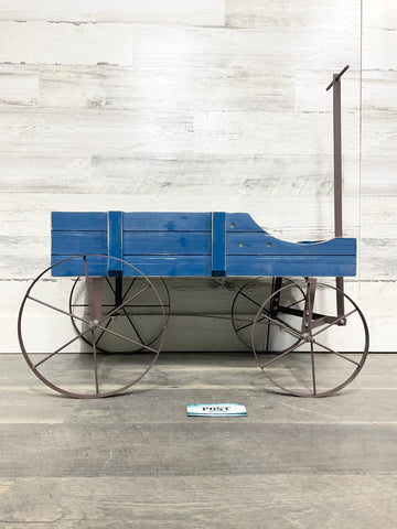 Wooden Blue Wagon