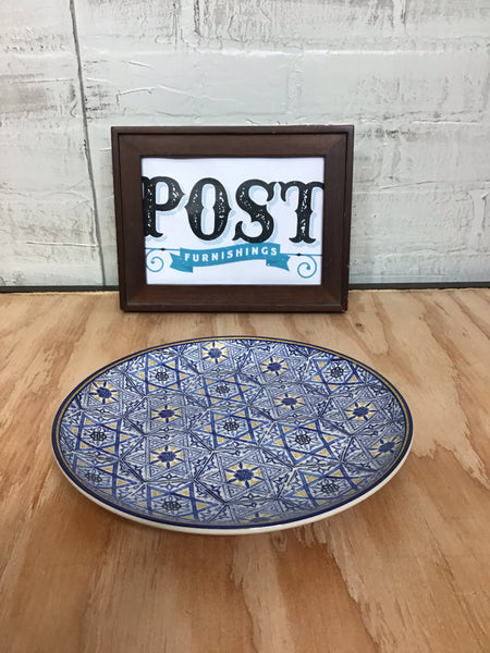 Set of 4 William Sonoma Blue Hanukkah Mosaic Plates