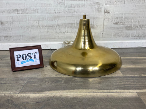 West Elm Brass Hanging Pendant Light