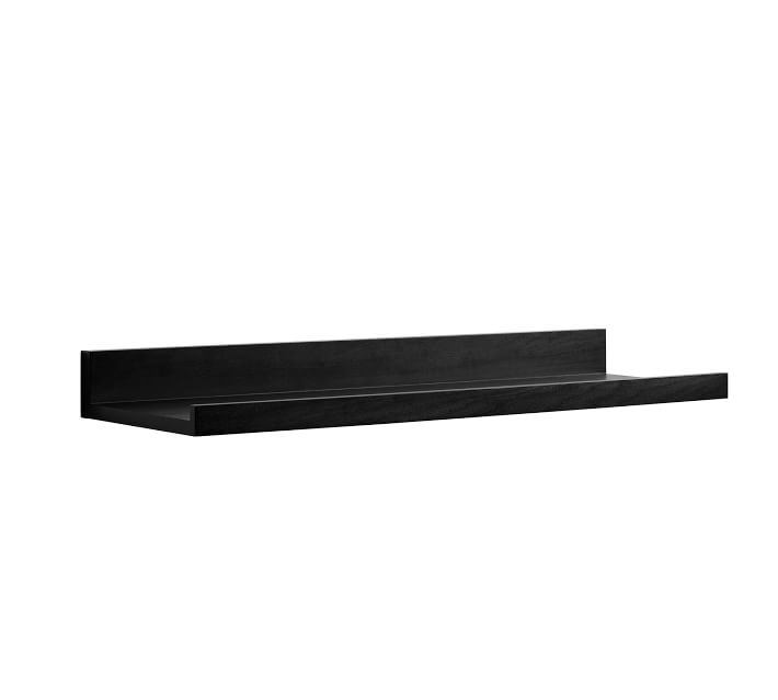 Pottery Barn Floating Black Shelves