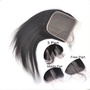 Human Hair Cheap Bundles With 6x6 Closure