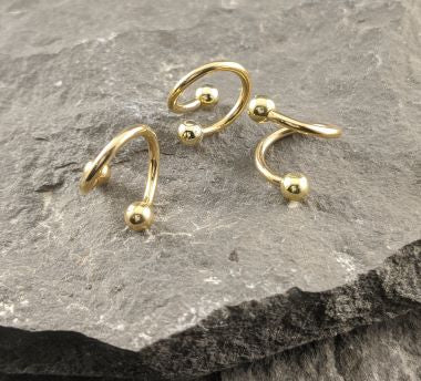 14K Gold spirals with Balls (GBS)