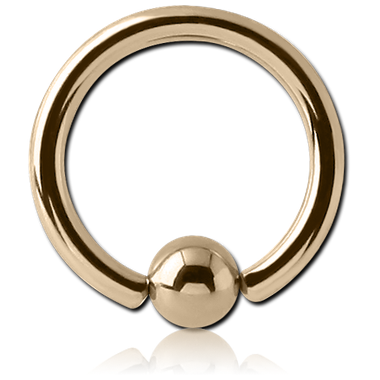 14K Gold captive Ball hoop (GCBR)
