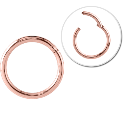 316L Rose gold hinged segment hoop (RGHCSR)