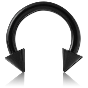316L Black Steel Horseshoe with Cones (BKCCC)