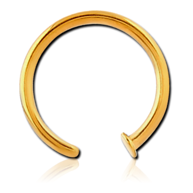 316L Gold PVD Coated Open Nose Ring (GPONR)