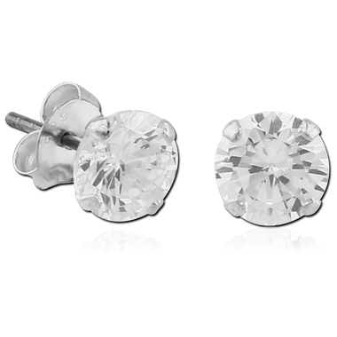Sterling Silver Ear Studs (SER4-CR)