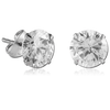 Titanium Round prong set ear studs (TER1-CR)
