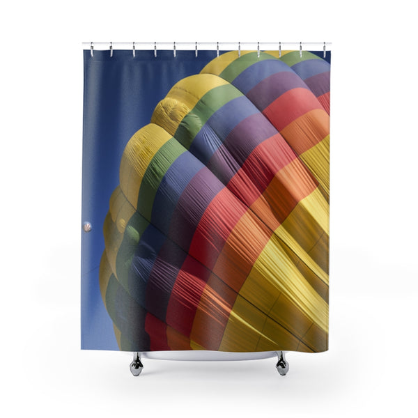 Colorful Balloon Shower Curtain - Confident Camera