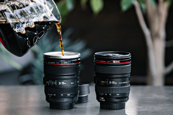 Camera Lens Travel Mug - Confident Camera