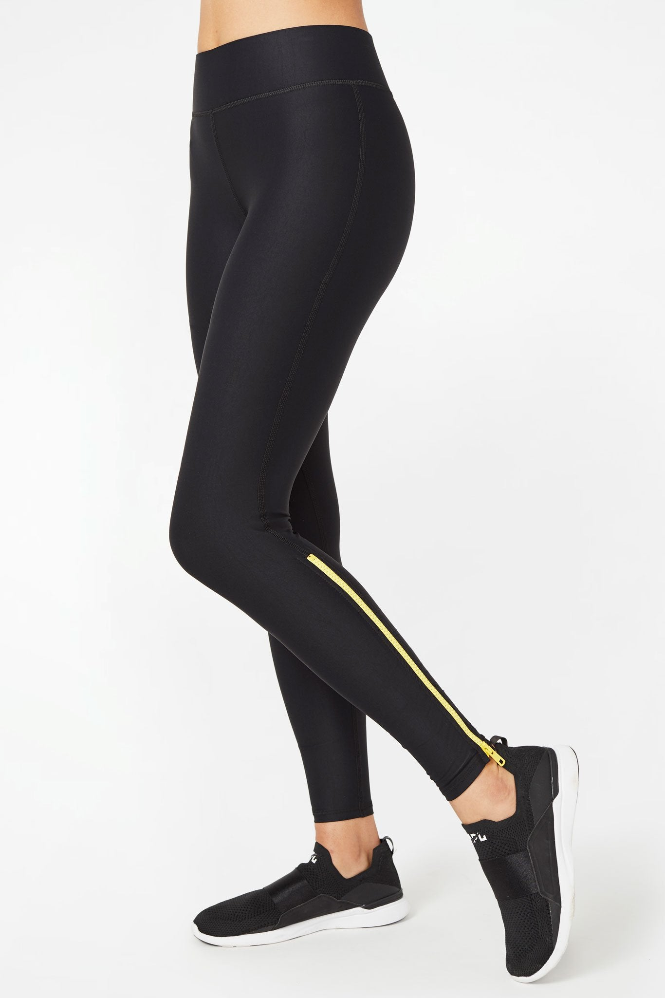 Yellow Zipper UpLift Leggings