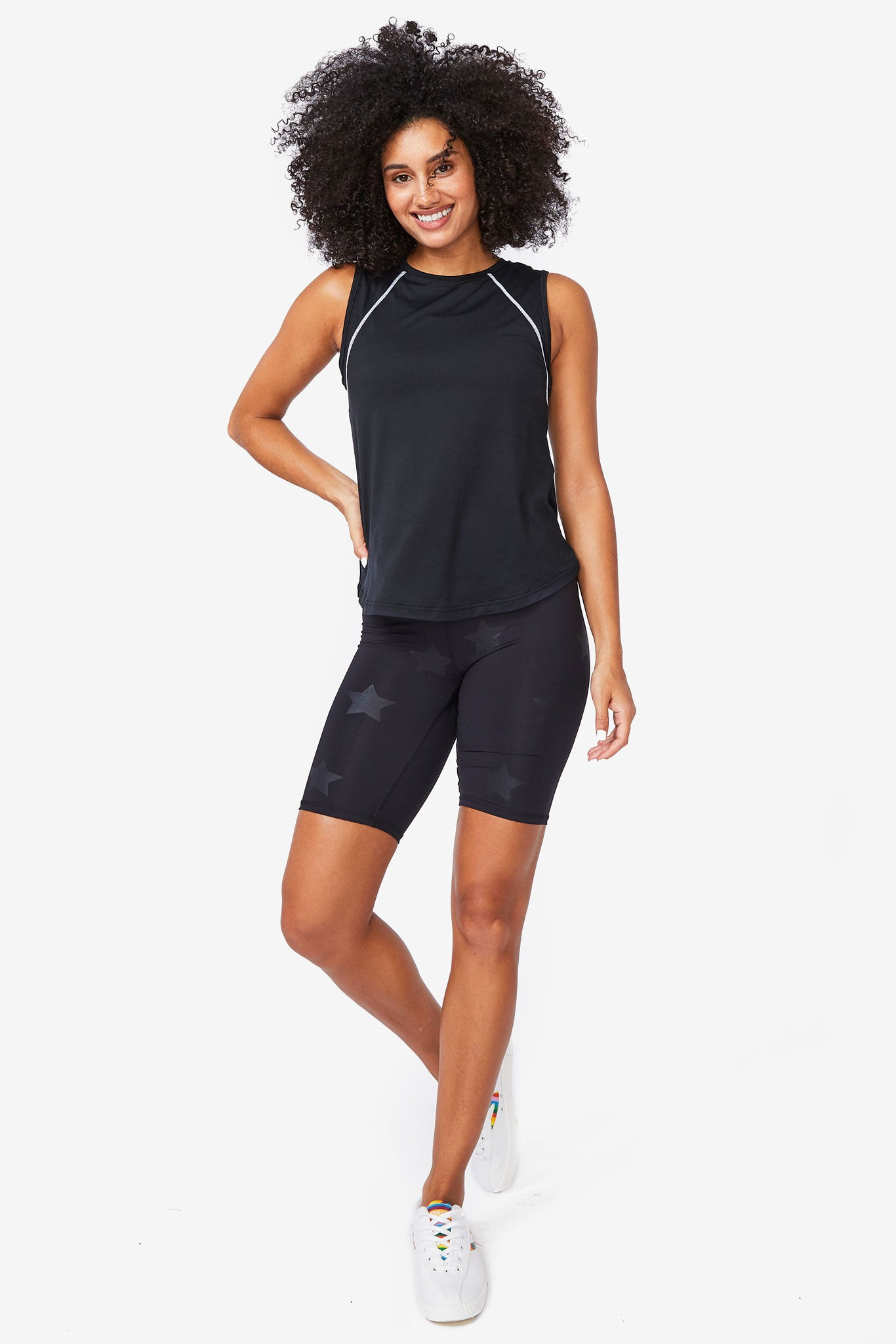 New Yorker Black WorkIt Tank