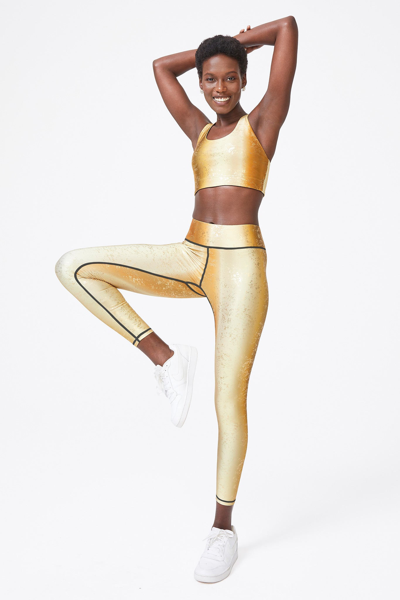 Gold Tonal Haze Foil Balayage Leggings
