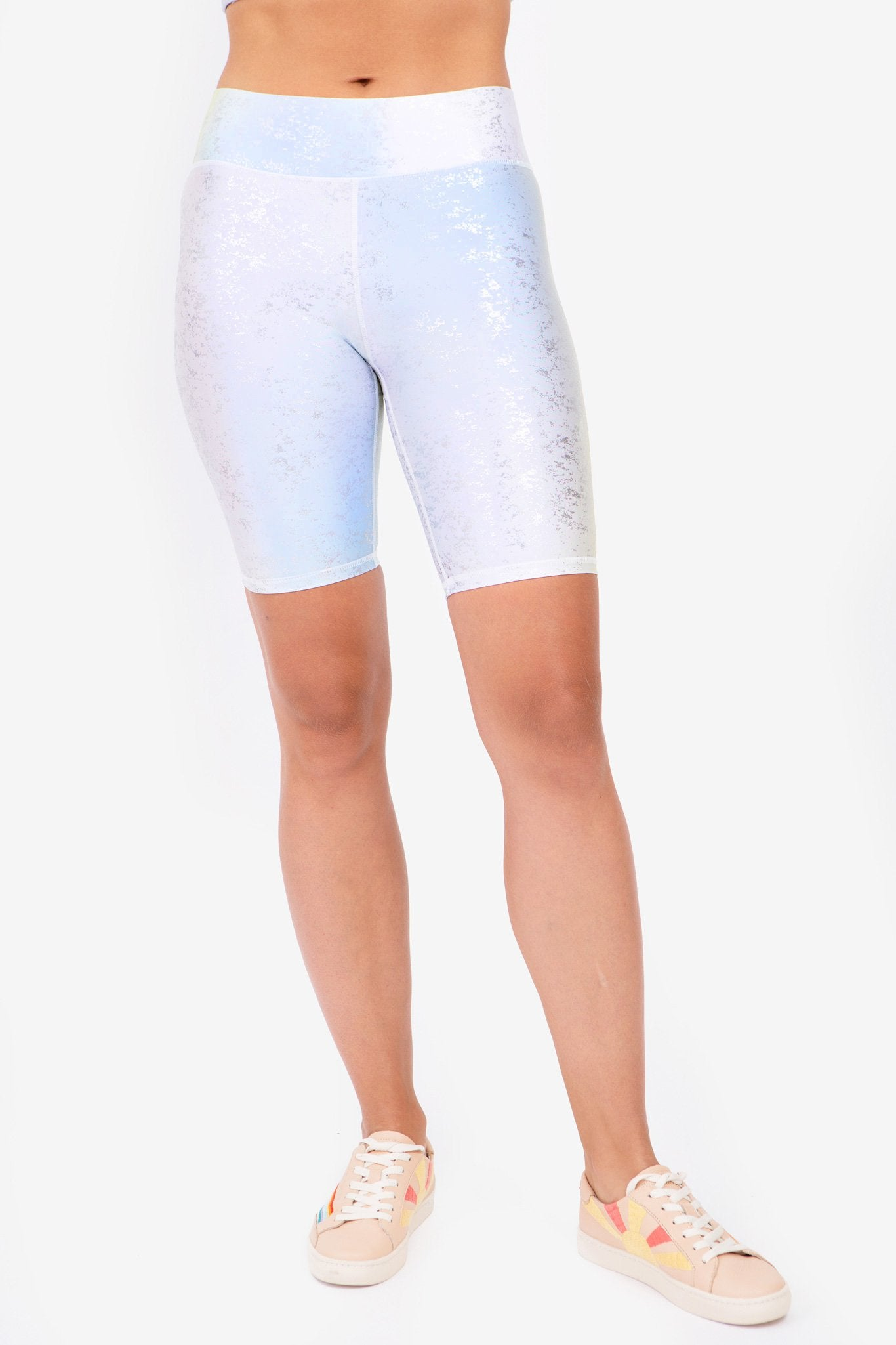 Sundown Silver Haze Foil Balayage Bike Shorts