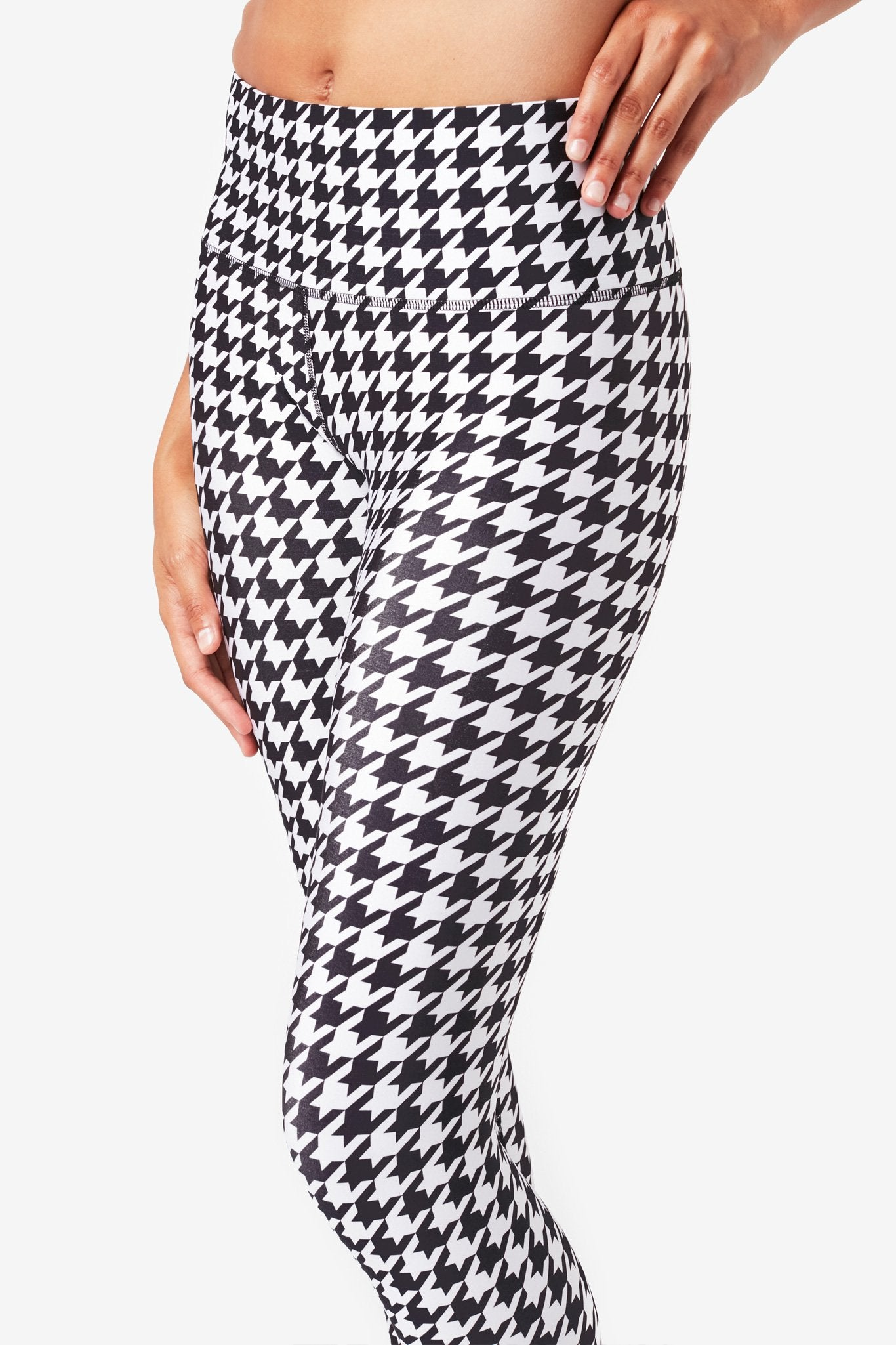 Houndstooth Hi-Shine Leggings