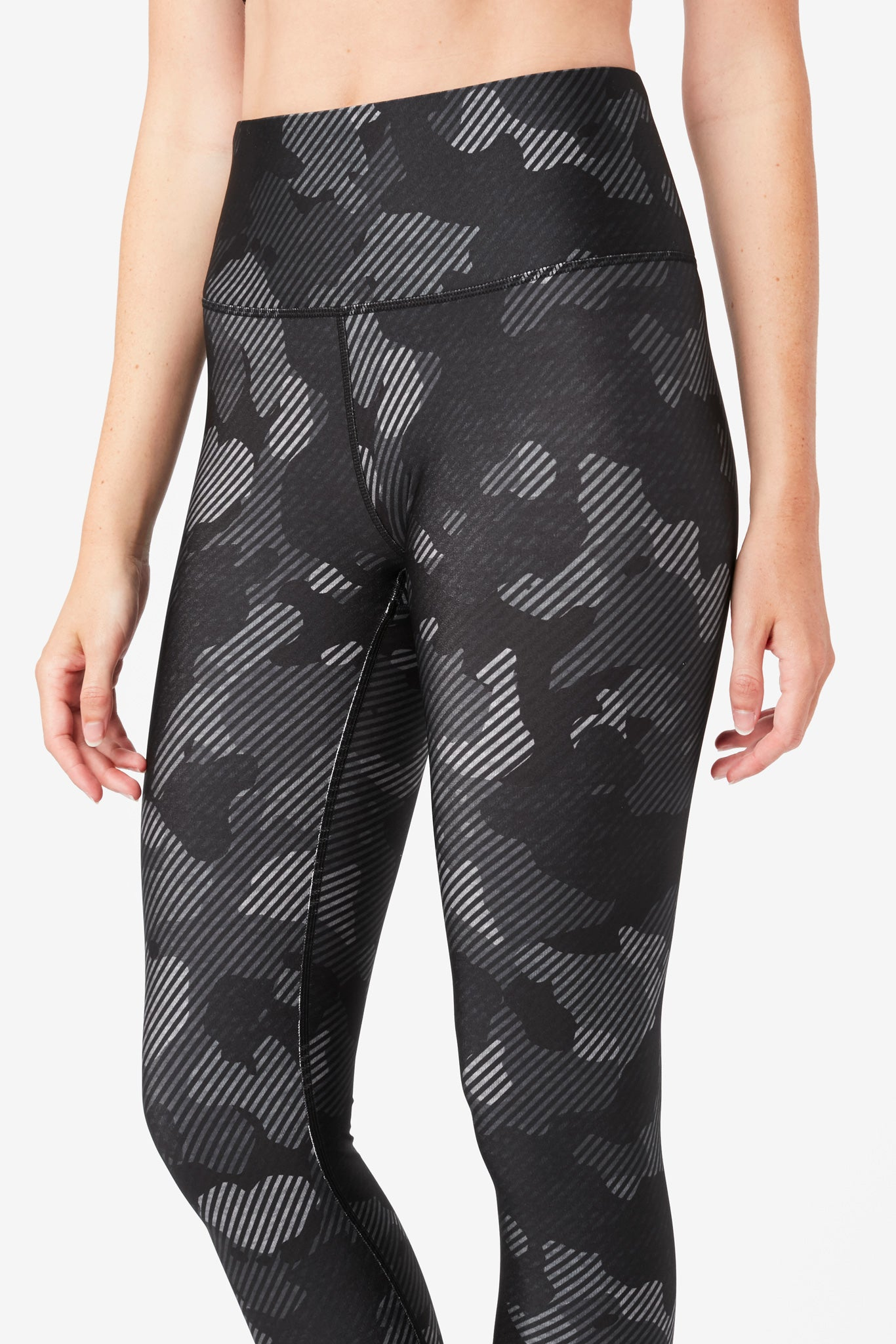 Charcoal Camo Stripe Hi-Shine Leggings
