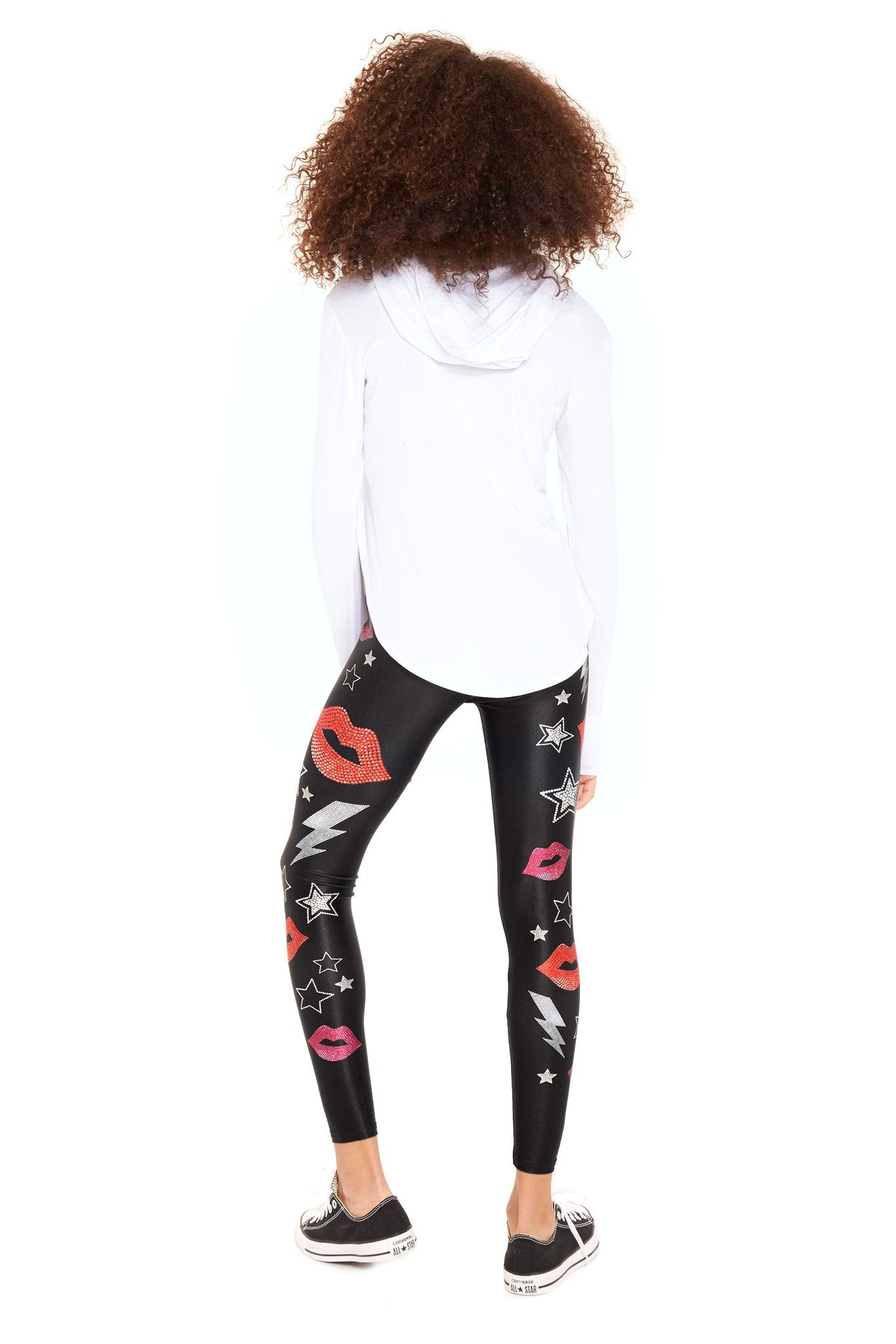 Girls Crystal Lips Leggings by Terez