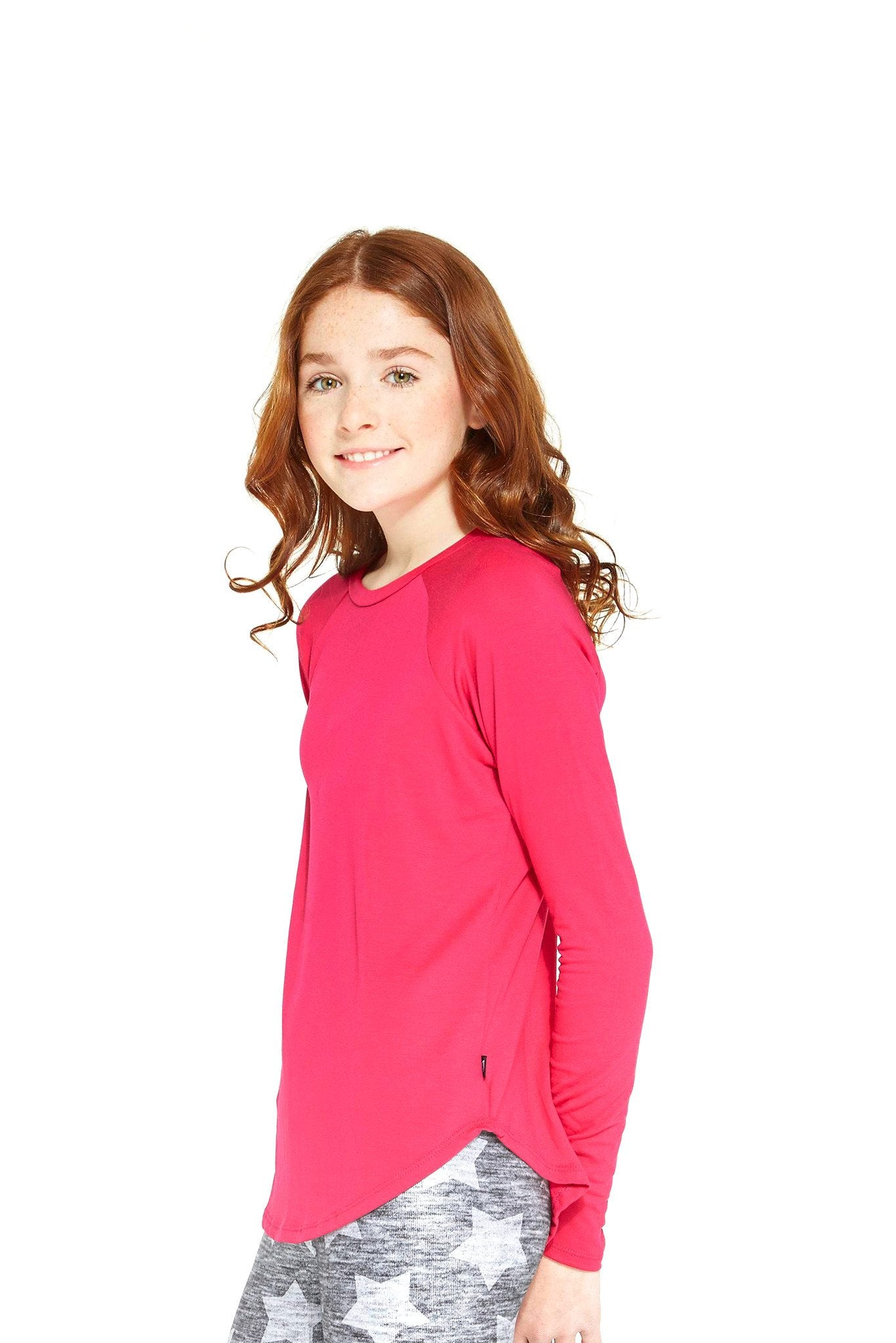 Girls Hot Pink Long Sleeve Baseball by Terez