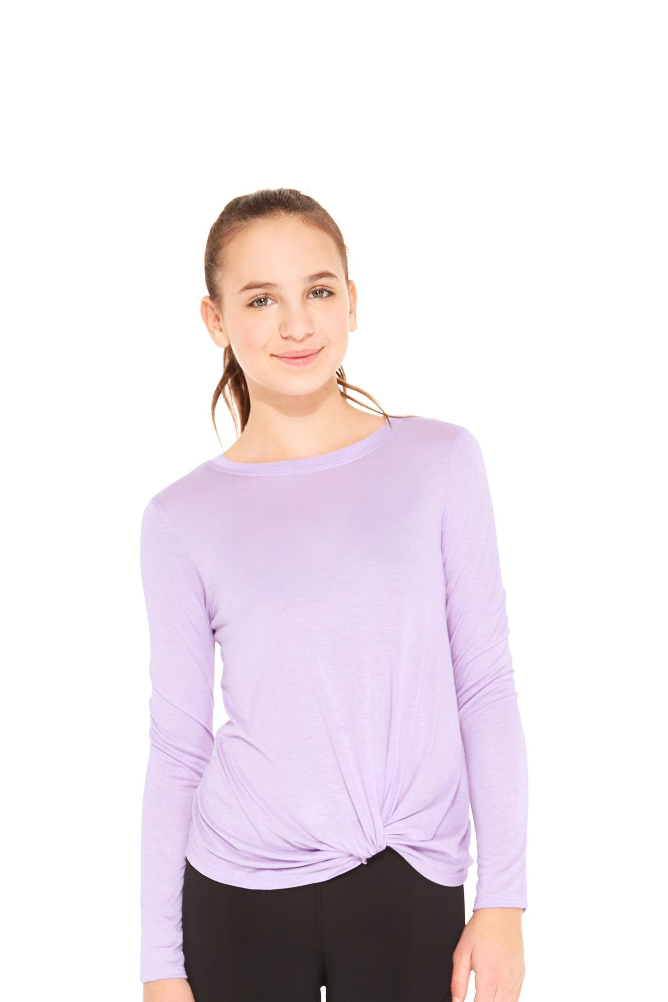 Girls Lilac Twist Front Long Sleeve by Terez