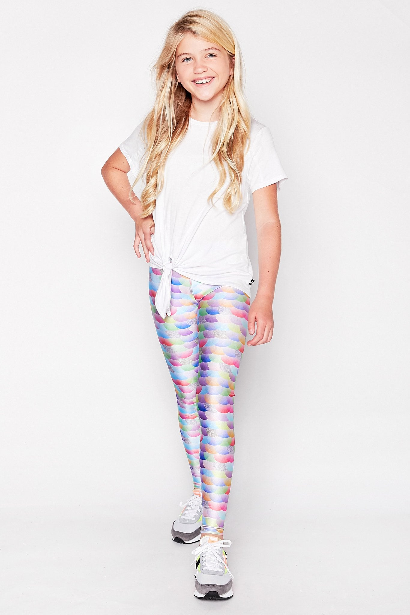 Girls Shimmer Mermaid Leggings