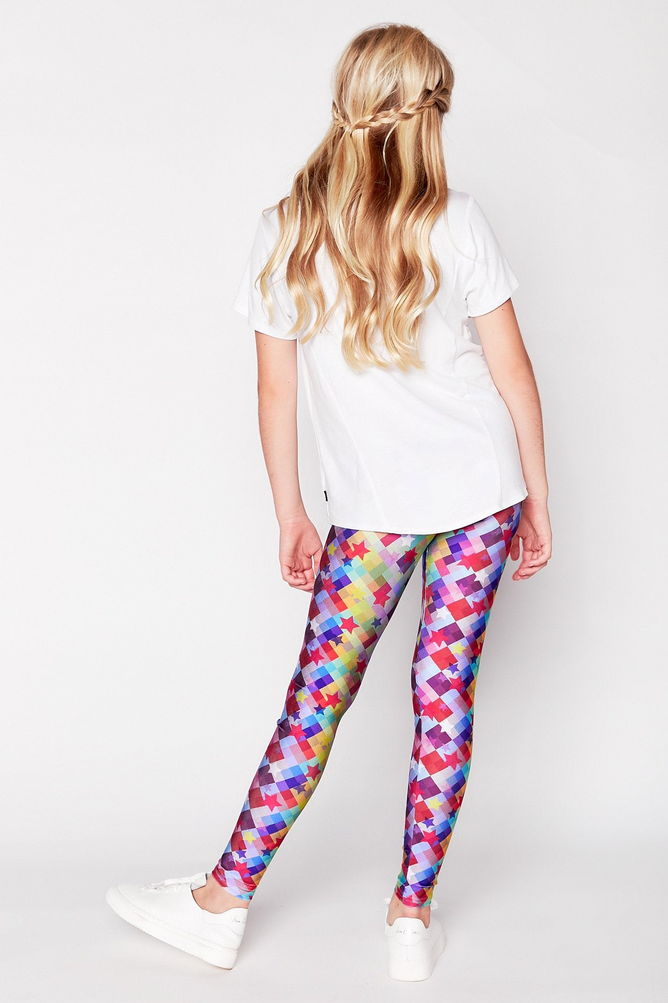 Girls Checker Star Leggings