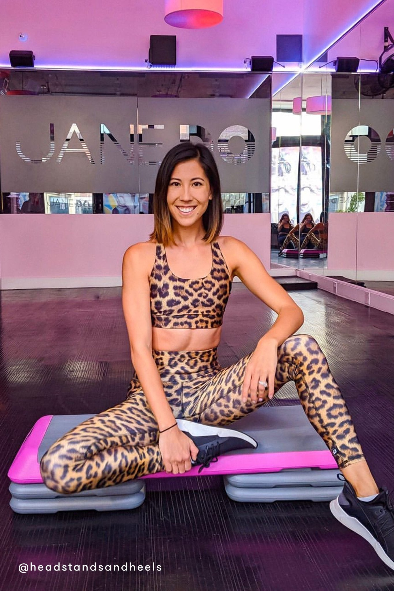 Leopard Goals Hi-Shine Leggings