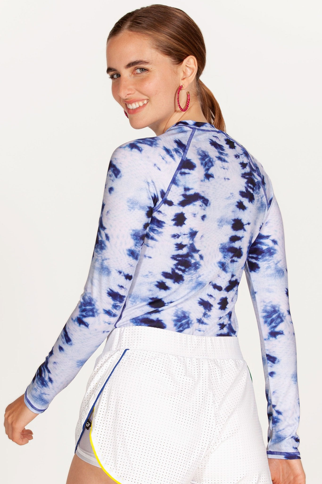 Blueberry Tie Dye Long-Sleeved Rash Guard