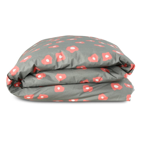 Fitted Cot Sheet - Cross Hatch Navy