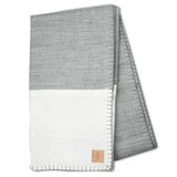 Modern Border Blanket - Grey/White - Queen/KingSize