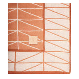 Geo Throw -Tangerine/White