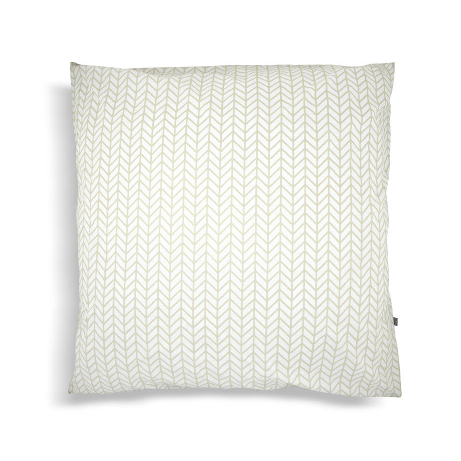 Herringbone Pillowcases + Euro