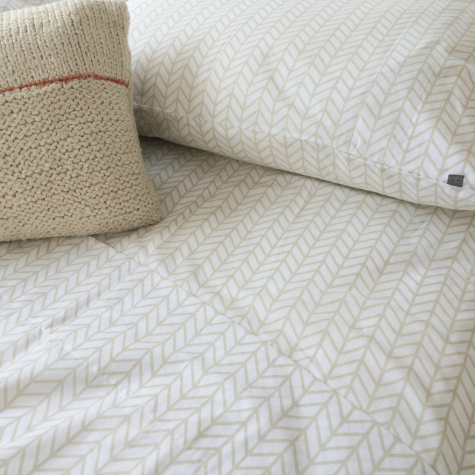 Herringbone Duvet Set - Birch