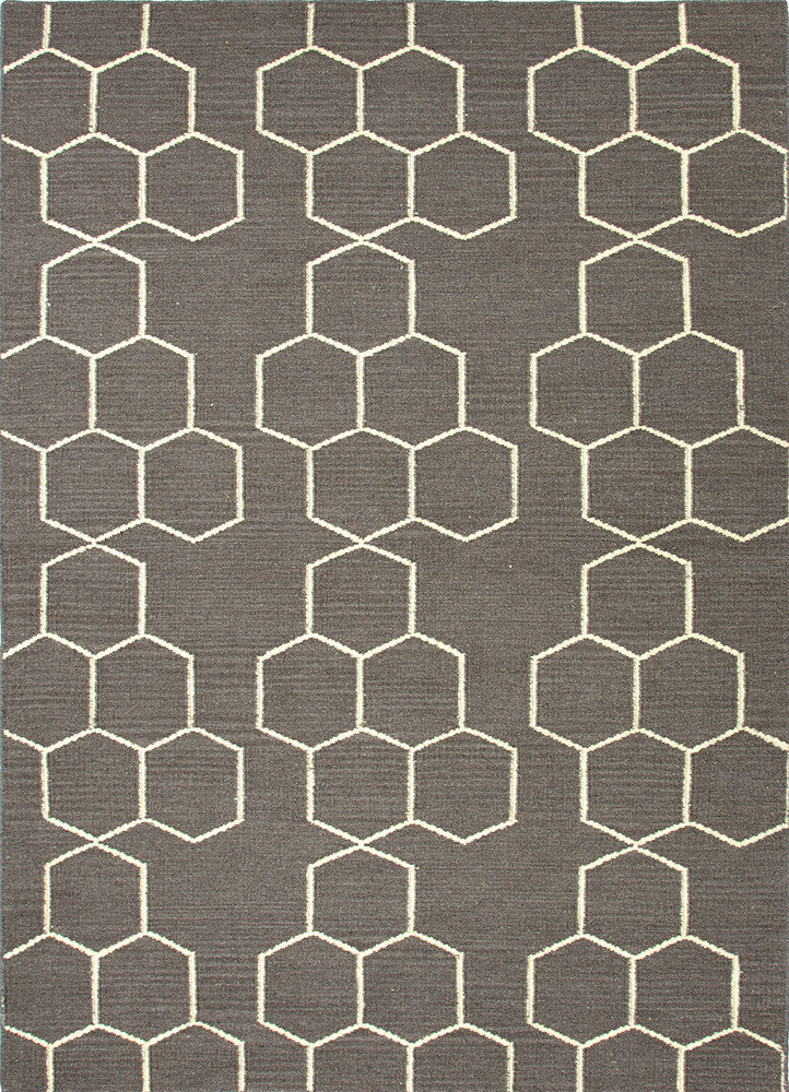 Honeycomber Rug - Licorice Grey