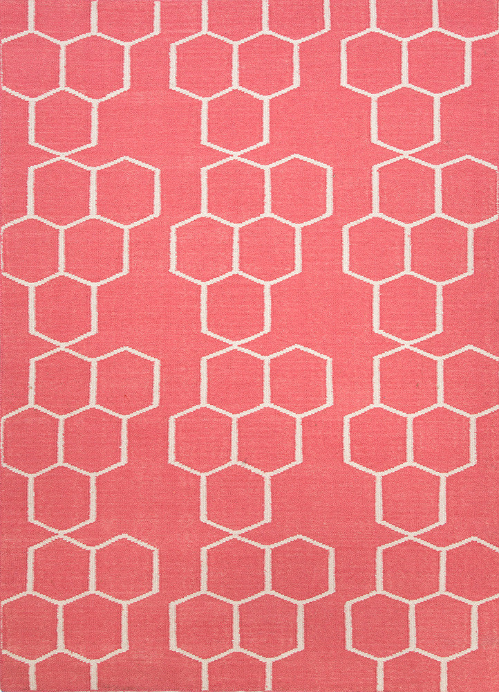 Honeycomber Rug - Tea Rose Pink