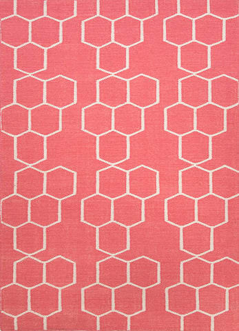 Rand Stripe Rug - Pink/White