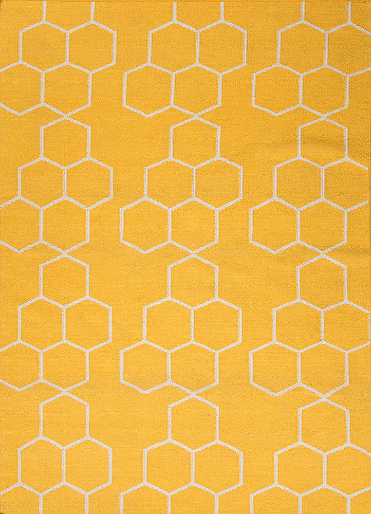 Honeycomber Rug - Sunshine Yellow