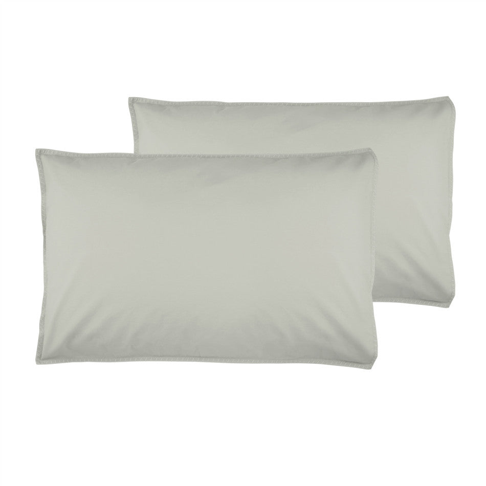 Stone Wash Pillowcases + Euro  - Oyster